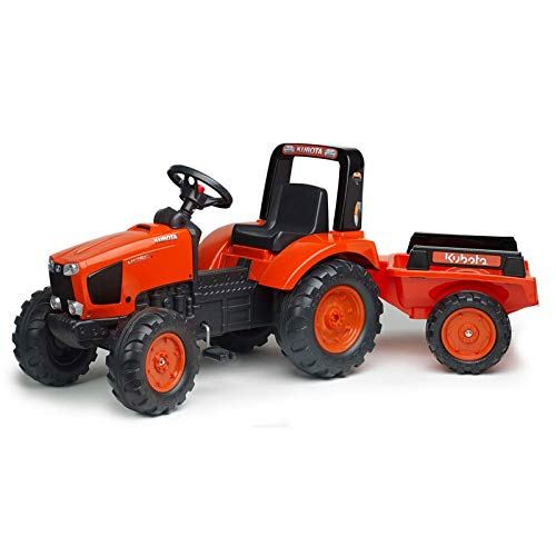 Falk Kubota M135GX Pedal Tractor with Trailer