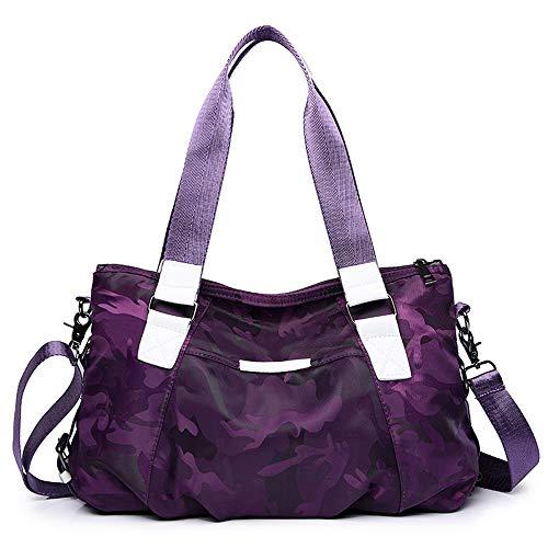 Damas Impermeable Moda S Camuflan Crossbody Mujer Purple Bandolera Wwave Una Bolsos Nylon Bolsa Para ECw4Hwq