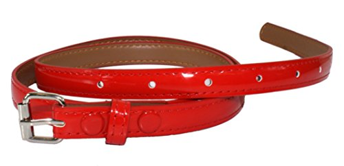 Ted and Jack - Ted's Classic Skinny Leather Look Belt in Red (Classic Look Classic Belt)