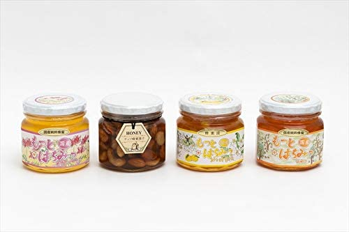 【国産純粋ハチミツ・養蜂園直送】れんげ蜂蜜 山蜂蜜 各300g 柚子蜂蜜漬 270g ナッツ蜂蜜漬260g