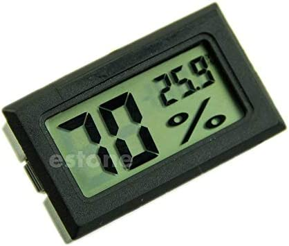 Besttse hygrom/ètre Thermom/ètre Digital LCD Temp/érature Humidit/é M/ètre 10/% ~ 99/% RH Noir
