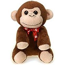 "Fiesta Toys Valentines Day Lil Buddy Monkey Plush Stuffed Toy - 5"""
