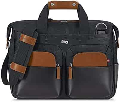 Solo Sag Harbor 15.6 Laptop Briefcase, Black