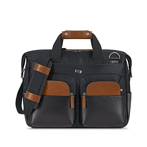 Removable Computer Section (Solo Sag Harbor 15.6 Laptop Briefcase, Black)