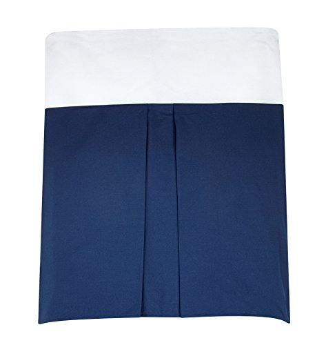 Separates Dust Ruffle with Box Pleats, Solid Navy ()