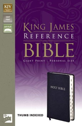 KJV, Reference Bible, Giant Print, Personal Size, Bonded Leather, Navy, Indexed, Red Letter Edition