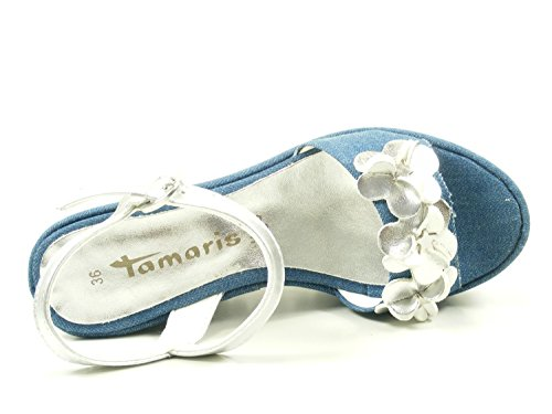 1 Bleu Sandales Femme Mode 38 28038 Tamaris zYxd7aa