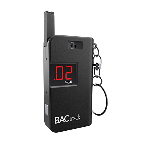 BACtrack Keychain Breathalyzer Portable Keyring Breath Alcohol Tester, Black (Tester Breathalyzer)