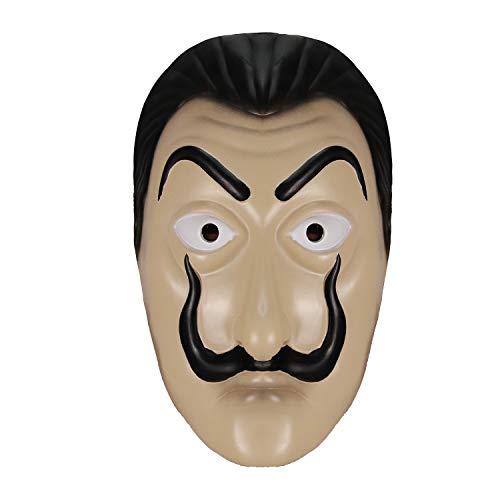 molezu Mascara de latex de Dali, Fiesta de Disfraces de Halloween Disfraces de Cosplay de celebridades Brillantes de latex