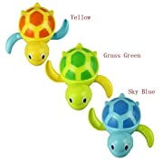 Baby Cute Swimming Turtle Bathing Bath Swimming Tub Bathtub Pool Cute Swimming Turtle Toys for Boys Girls,Set of 3