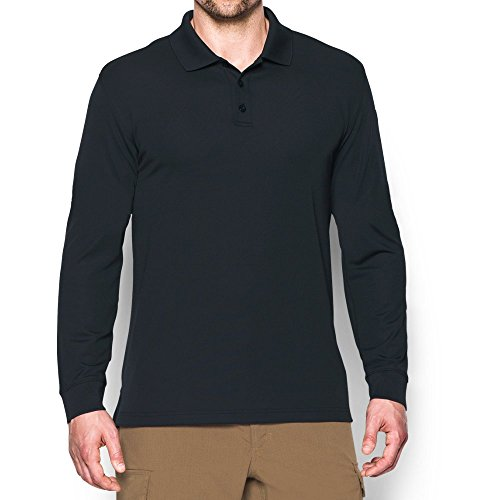 Under Armour Men's Tactical Performance Long Sleeve Polo, Dark Navy Blue/Dark Navy Blue, Large