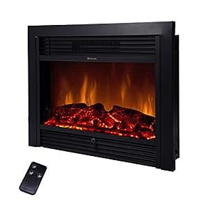 Amazon Com Beamnova 28 Inch Electric Fireplace Black