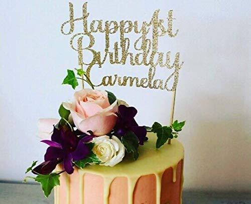 Decoración para tartas de cumpleaños con texto en inglés ...