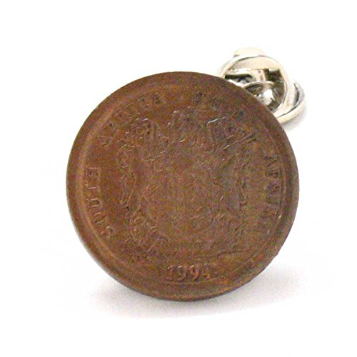 South Africa Coin Tie Tack Lapel Pin juwele Suid-Afrika Johannesburg Pretoria Durban LDS Missionary by Marcos Villa