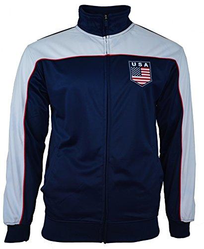 Rhinox Adult USA Soccer Football Track Jacket, Navy - Large (Team Jacket Usa)