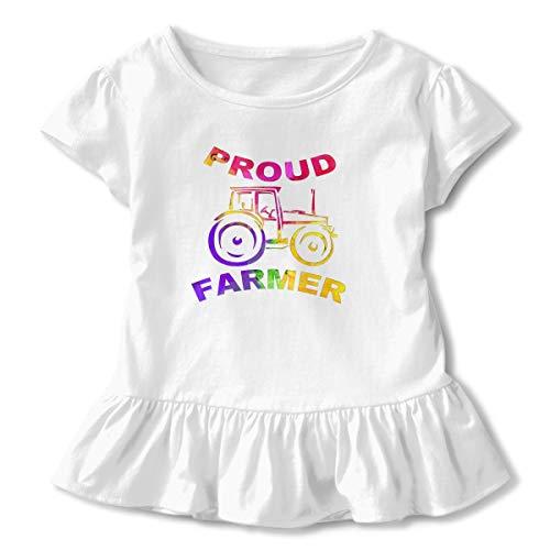 Alfred Weekjey Proud Farmer Girls Short-Sleeve Tunic Peplum Blouse Shirt -