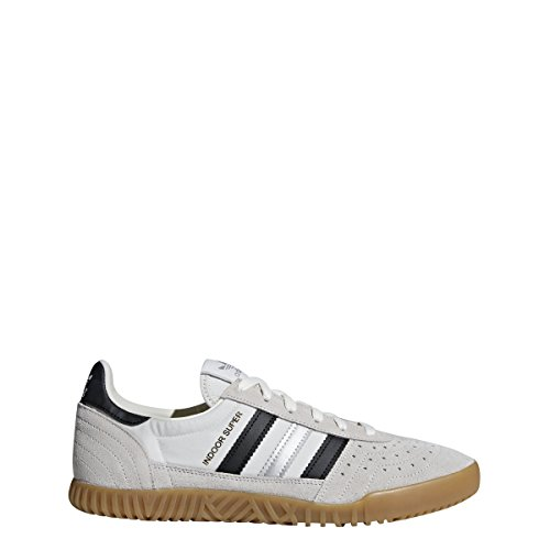 adidas Mens Indoor Super Casual Shoes, White, 6