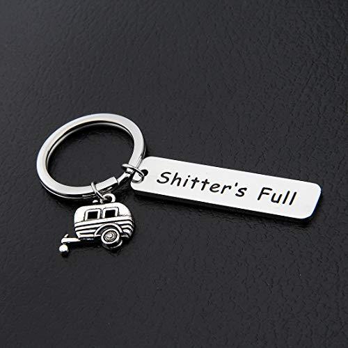 Shitters-Full-Camper-Keychain-Happy-Camper-RV-Keychain-Camping-Keychain-Trailer-Vacation-Jewelry-Keychain