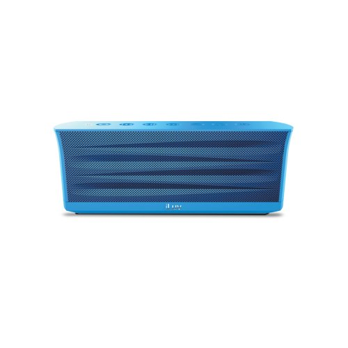 iLuv Rechargeable Splash-resistant Stereo Bluetooth Speaker with Jump-Start Technology-Blue
