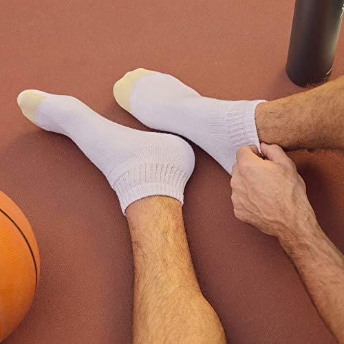 10-13//24Pair, White Enerwear-Coolmax 24 Pack Mens Cotton Low Cut No Show Ankle Socks