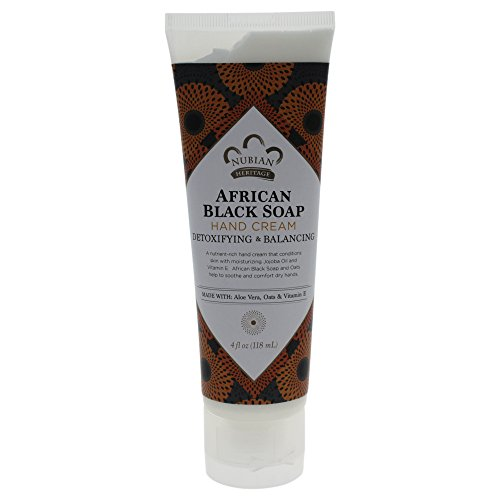 Nubian Heritage Hand Cream, African Black Soap, 4 Ounce