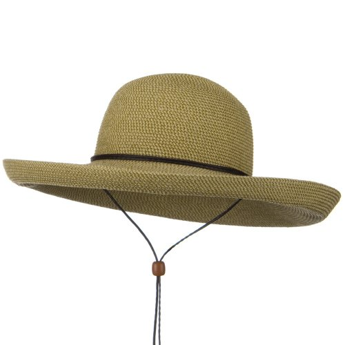 (UPF 50+ Cotton Paper Braid Kettle Brim Hat - Tan Tweed OSFM)