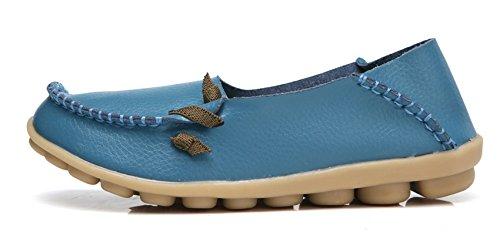 VenusCelia Blue Comfort Loafer Cute Flat Walking Women's 1xA1wqF8