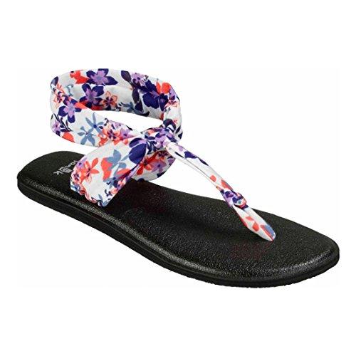 Sanuk Schwarze Yoga Ella Waikiki Palmen trübe Liberty Floral Flip Damen Flop Sling 4 UK xTYwqrAT