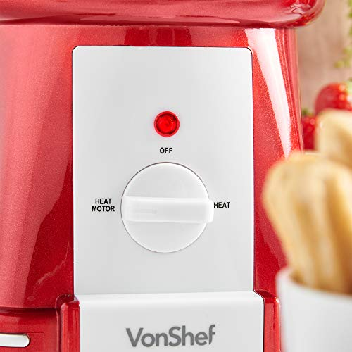 VonShef Retro Electric Chocolate Fountain Machine – 3 Tier Chocolate Fondue Maker with Quiet Motor for Dessert/Dipping for Parties, Weddings by VonShef (Image #7)