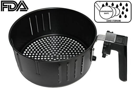 Air Fryer Replacement Basket for 3.5L Air Fryers from DELLA, POWER AIR FRYER, SIMPLE CHEF, COZYNA, GOWISE, COSTZON, BEST CHOICE PRODUCT, AVALON BAY, XTREMEPOWER, BLUSMART, ENSUE, GOURMIA, and MORE..