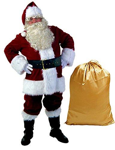 Cuteshower Super Deluxe Santa Suit Christmas Regency Plush Santa Costume for Adult Men's (Santa Suit Super Deluxe Costumes)