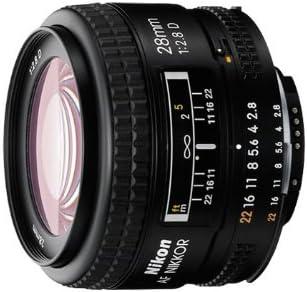 Nikon AF FX NIKKOR 28mm f//2.8D Lens with for Nikon DSLR Cameras