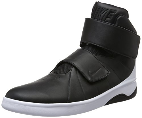 Nike Marxman Mens Black Leather High Top Lace Up Sneakers Shoes 9 (Men High Top Sneakers Nike)