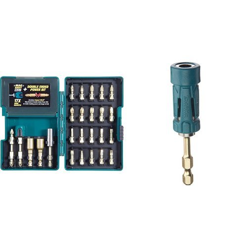 Makita B-46919 Impact GOLD 26 Piece Torsion Insert Bit Set with Ultra-Magnetic Torsion Insert Bit Holder Bundle