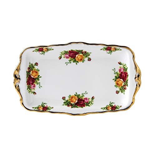 Royal Albert 15210136 Old Country Roses 11-3/4-inch Sandwich Tray