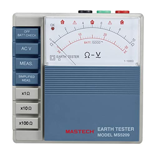 MeterTo Low Power Pointer Ground Resistance Tester Analog Earth Resistance Test Meter Megohmmeter Megometro 10ohm to 1000ohm