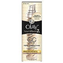 Olay CC Cream, Total Effects Tone Correcting Moisturizer with Sunscreen, Light to Medium 50 ml