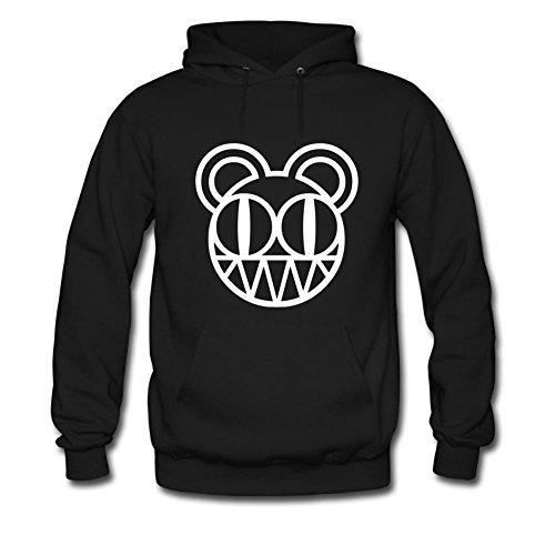 Yuanfang Nong men's Radiohead Bear Sweatshirt Hoodie M Black