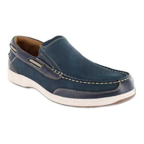 Florsheim Men's Marina Slip Moc Toe Shoe,Navy Suede,US 9.5 M (Moc Slip Classic)