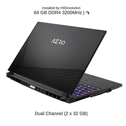 "HIDevolution Gigabyte Aero 15 OLED KC-8US5130SP, 15.6"" UHD OLED, 2.2 GHz i7-10870H, RTX 3060, 64 GB 3200MHz RAM, 16 TB PCIe SSD"