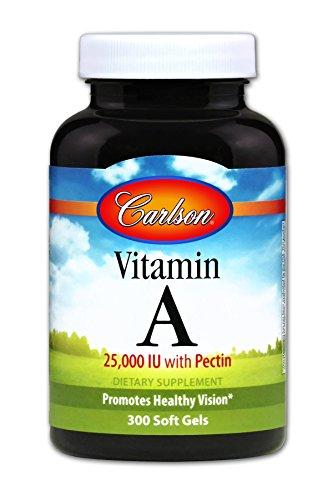 Carlson Vitamin A with Pectin 25,000 IU, 300 Soft Gels