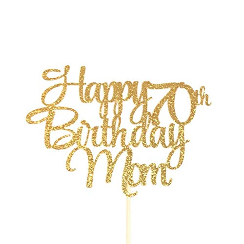 Happy 70th Birthday Mom Cake Topper Mother S Birthday Cake Topper Best Mom Ever Cake Topper Mom 70 Handmade Athenalab Org