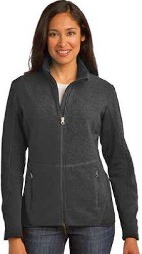 Port Authority Ladies R-Tek Pro Fleece Full-Zip Jacket, XXL, Black/Black (Authority Port Fleece R-tek Ladies)