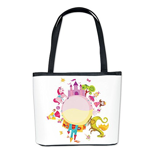 Bucket Bag Purse (2-Sided) Princess Prince Dragon Kingdom Renaissance Princess Purse