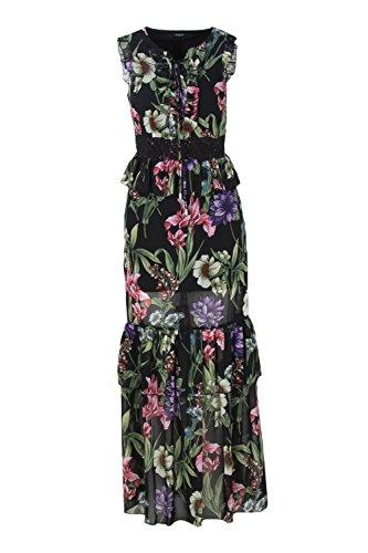 Guess Kleid Langes Damen Dress Schwarz WAFI0 Olga W83K53 p1xpwrU