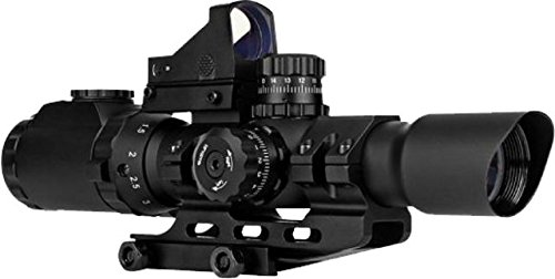 Trinity Force 1-4X28 Assault Scope Combo w/ Red Dot, 28mm, Small Cross Etched Glass Reticle, Black Review