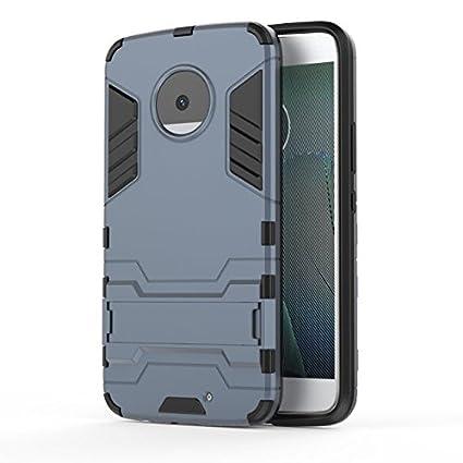 Funda Samsung Galaxy S8 Plus Suave TPU Rubber Case Cover con soporte para Samsung Galaxy S8 Plus MHHQ 2in1 Armadura Combinaci/ón A Prueba de Choques Heavy Duty Escudo C/áscara Dura PC Silver