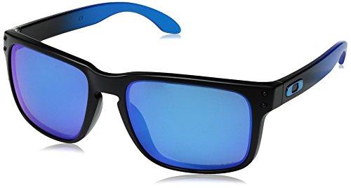 Oakley Men's Holbrook Iridium Square Sunglasses, Fade w/Prizm Sapphire Polarized, 57 ()