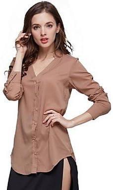 Mujer Camisas y blusas de mujer Solid Slim Hin Thin División cola Split Camisa, Camisa manga larga, color Blanco - blanco, tamaño L: Amazon.es: Deportes y aire libre