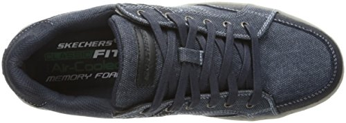 Skechers Mens Lanson Torben Sneaker Navy Canvas